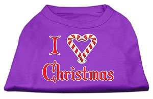 I Heart Christmas Screen Print Shirt Purple Lg (14)